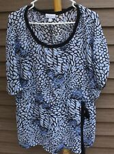 Woman's Multi-Colored Sheer Blouse by Fashion Bug; Size: 2X