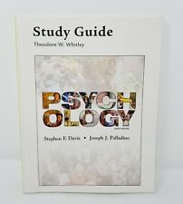 Study Guide for Psychology by Theodore Whitley 6th Edition Davis Palladino -
