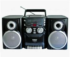 Naxa Portable CD Player Boombox with  AM/FM Stereo Radio & Cassette Recorder