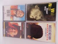Willie Nelson Lot of 4 Cassettes Super Hits Vol 1&2, Night Life, Greatest Hits