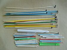 52 Vintage Knitting & Crochet Needles / Unmarked & Mismatched