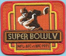 Super Bowl V Patch Baltimnore Colts/Dallas Cowboys