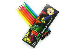 Koh-I-Noor Progresso Set of 6 Fluorescent Woodless Pencils(8741)