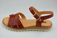 Pikolinos Chaussures Femmes Sandales Alcudia rouge en cuir plat taille 39