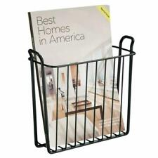 Wall Mount Magazine Rack Hanging Newspaper Holder Basket Bathroom Decor