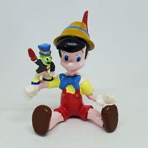 Vintage Disney Pinocchio Sitting Jiminy Cricket PVC Figure Applause Cake Topper