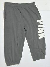 Woman's VICTORIA'S SECRET PINK Grey Sweat Pants Bottoms Junior Size Small S