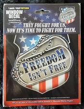 Patriotic FREEDOM ISN'T FREE Vinyl Weather Resistant Car/Truck Window Decal