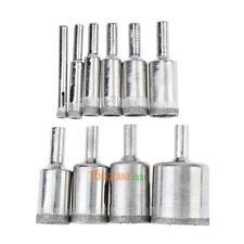 10 Pcs Diamond Drill Bit Set 6mm to 30mm Diamond Tools Hole Saw Use Glass
