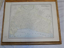 1891 CRAM Map//MONTREAL b/w DARTMOUTH & HALIFAX Canada