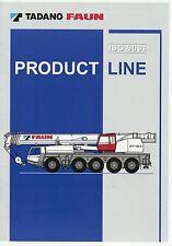 Prospekt D 2002 Tadano Faun Product Line Mobilkrane mobile cranes grues gruas