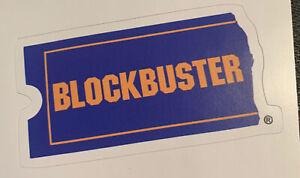 "Blockbuster Video Sticker 3.5"" x 1.9"" - Free Shipping - Movie Rentals"