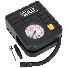 Sealey Micro Compresor de aire para inflar neumáticos Car MC/con LED Luz 12V-MS163