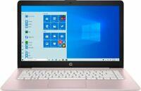 """HP Stream 14"""" Celeron 4GB/64GB Laptop-Rose Pink"""