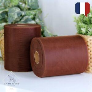 Rouleau de Tulle Marron Choco 15cmx90m qualité supérieure polyester tutu Mariage