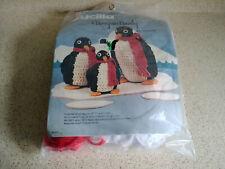 Bucilla Penguin Family A Kit to Crochet, New Sealed