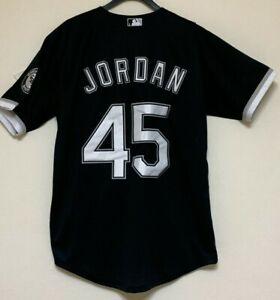 MICHAEL JORDAN  BLACK SOX  XS AND SMALL BASEBALL JERSEY CLEARANCE