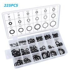 225Pcs Universal Rubber O-Ring Assortment Set Gasket Automotive Seal SAE Kit US