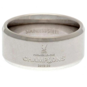 Liverpool FC Premier League Champions Band Ring Medium