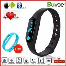 Bluetooth Smart Wristband Bracelet Heart Rate Pedometer Watch Fitness Tracker UK