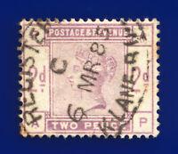 1884 SG189 2d Lilac K19 AP Mark Lane 6 MR 85 Good Used Cat £80 dahi