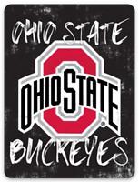 O.S.U. Ohio State University Buckeyes Logo on Chalkboard type MAGNET