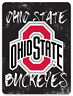 O.S.U. Ohio State University Buckeyes Logo on Chalkboard type MAGNET