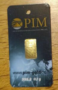 1 x 0,1 g PIM Gold Barren Blister 999,9 Zertifikat Top Anlage Nadir