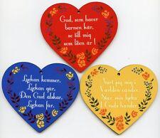 Scandinavian Swedish Children's Prayer Hearts - Set of 3 #EL632