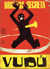 BRIGADA SECRETA nº186-VUDU-DIBUJOS GUAL ed.TORAY 1966