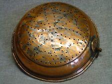 Sieb, aus Kupfer Ø 37 cm,  handgefertigt, rustikal, gealtert