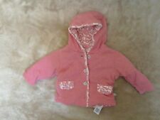 Baby Girls 0-3 Months - Hooded Pink Jacket, Wadded - M&S