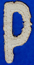 """LETTER """"P"""" - 2 1/2"""" NATURAL COLOR DISTRESSED LOOK TWILL IRON ON LETTER"""