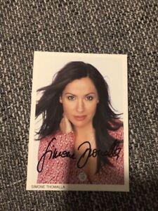 Original unterschriebene Autogrammkarte von Simone Thomalla