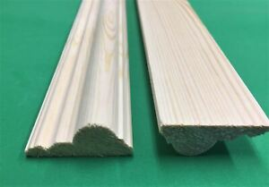 Traditional style decorative pine dado rail moulding , 10 lengths at 1.2meter