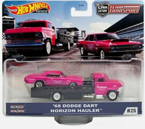 Hot Wheels TEAM TRANSPORT MIX J ~ #25 '68 DODGE DART & HORIZON HAULER