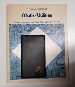 Texas Instruments TI-59 Math / Utilities Solid State Software Module mit Zubehör