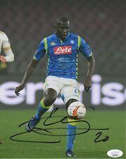 Napoli Kalidou Koulibaly Autographed Signed 8x10 Photo JSA COA #3