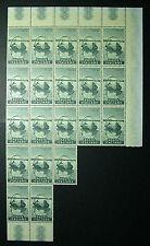 1958  ITALIA  110 lire  Segantini    blocco di 20 valori  MNH**