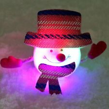 NEW Creative Kids Christmas Gift LED Light Flash Bracelet Slap Xmas Snowman Toys