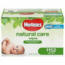 Huggies Natural Care Plus Baby Wipes 1152 count, Fragrance & Alcohol  Free 1 BOX