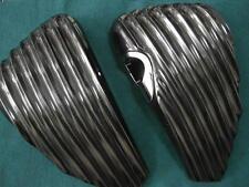 Harley Sportster side panels ribbed, fiberglass L+R, 04-13
