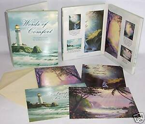 12 Words of Comfort Sympathy Greeted Leanin Tree Cards Message Inside Christian