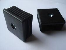 2 embouts bouchons ailette PVC pour tube carré 25mm M8