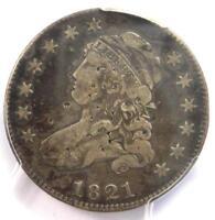 1821 Capped Bust Quarter 25C B-4 - PCGS Fine Details - Rare Coin - Scarce Date!