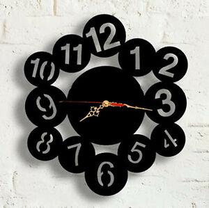 Wall Clock Modern Australian Made Acrylic Beta Number Design Art Clock