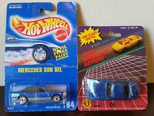 1/64 SCALE HOT WHEELS 1991 MERCEDES 380 SEL #184 + VTG Die Cast TAI CHEONG CAR