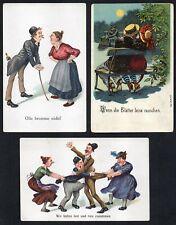 German Postcards: Cartoon - Animated 1905 / 1920 (Pre & Post WWI)