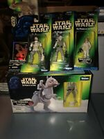 Vintage Star Wars POTF HOTH Lot Of 4! Tauntaun Luke Leia Rebel Soldier MISB 1996