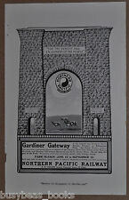 1914 NORTHERN PACIFIC RAILWAY advertisement, Gardiner Gateway, Yellowstone Park